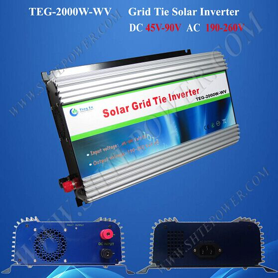 mppt control 2000w dc 45-90v to ac 220v 230v 240v solar on grid inverter 220v 230v 240v output solar power inverter on grid tie dc 45 90v input with mppt function 2000w