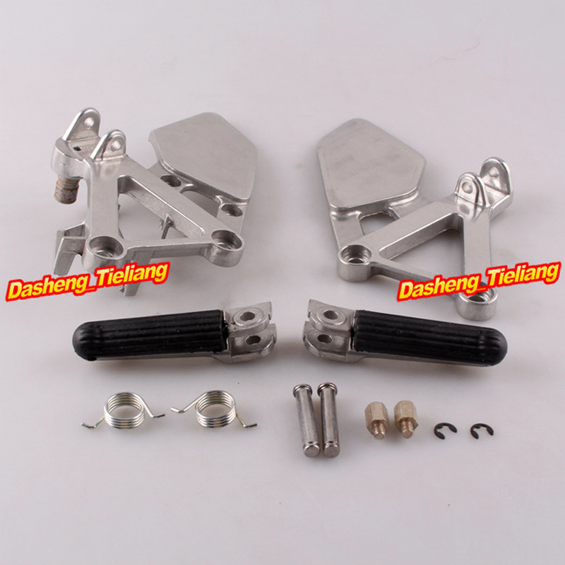 Aluminum Alloy Front Rider Foot Pegs Footrest Brackets For HONDA CBR250 1988-1989 MC19, Motorcycle Spare Parts Accessory