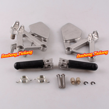 Aluminum Alloy Front Rider Foot Pegs Footrest Brackets for HONDA CBR250 88 89 MC19 Motorcycle Spare