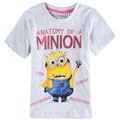 minion gray boys clothes,kids t shirt,boys children t shirts,clothing for boys,t-shirts for boys,children baby t-shirts enfant