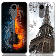 Drop Shipping TPU Soft Phone Case for LG K4 2017 X230 European Version 5-inch Fashion Pattern Colorful Painted