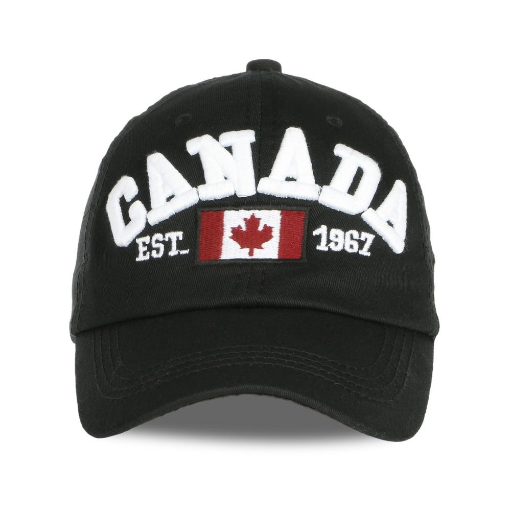 25f23ed1cf3 2017 Mens womans Cotton Gorras Canada Baseball Cap Maple Leaf Canada  Canadian Hat Snapback Adjuatable Baseball Caps dad Hat-in Baseball Caps  from Apparel ...