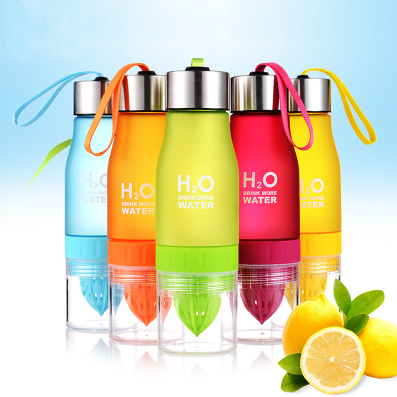 Creative 650ml Water Bottle plastic Fruit Infusion Portable bottle Infuser Drink Outdoor Sports Juice lemon Portable Kettle