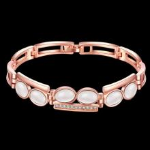 2016 new fashion luxury women's spring summer rose gold plated opal charm bracelates bangle statement jewelry hot sale