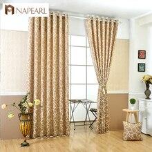 Cortinas jacquard geométrico moderno diseño simple salón cortinas ciegos ventana cortinas de decoración del hogar negro