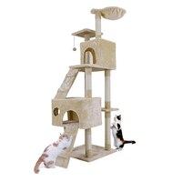 Внутренние поставки Новый Multifuction два Цвет Кошки Скребут Мебель шарики весело Игрушечные лошадки Cat дерево с Лестницы высота 175 см