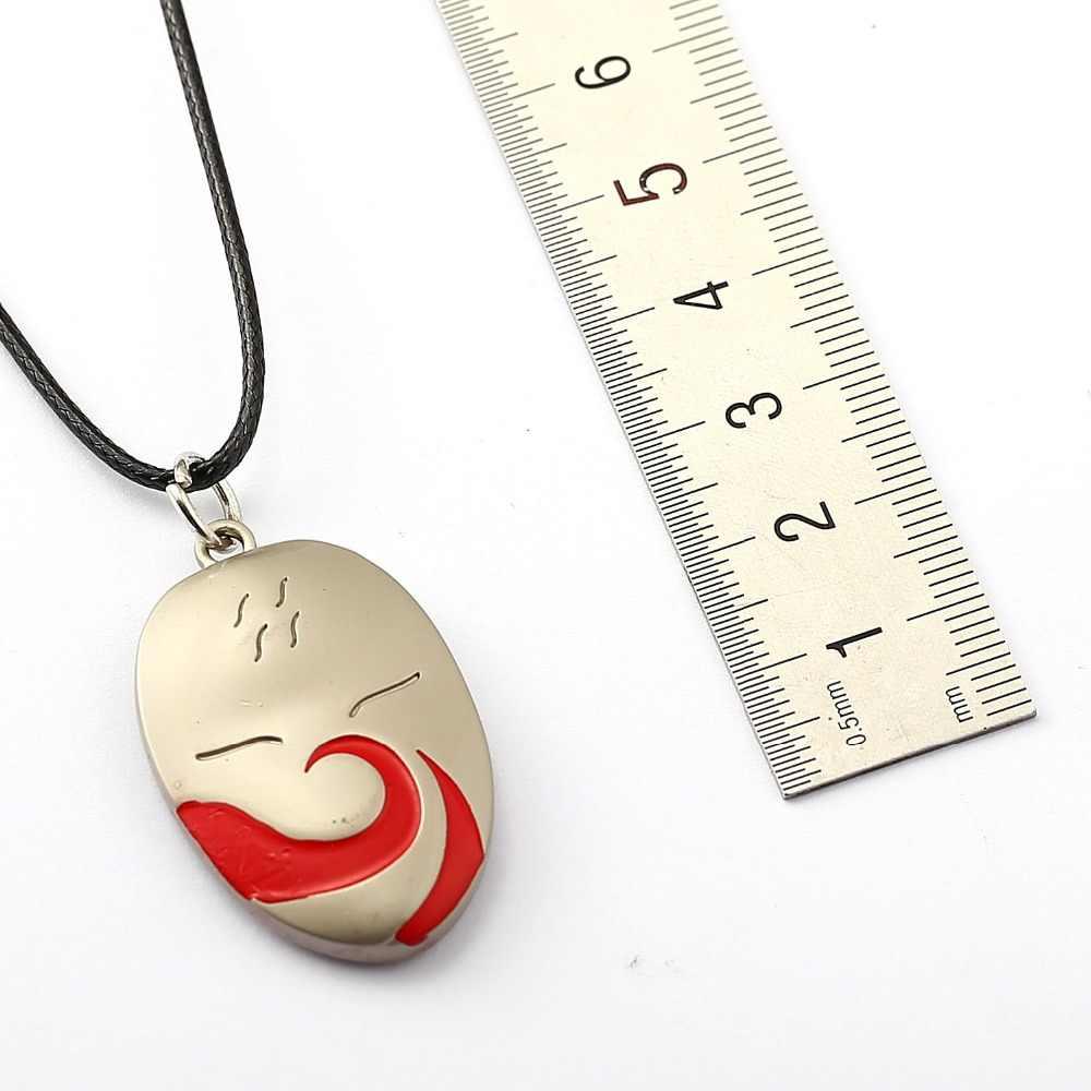 MS biżuteria NARUTO Choker naszyjnik cień Kakashi maska wisiorek mężczyzna kobiet prezent Anime akcesoria