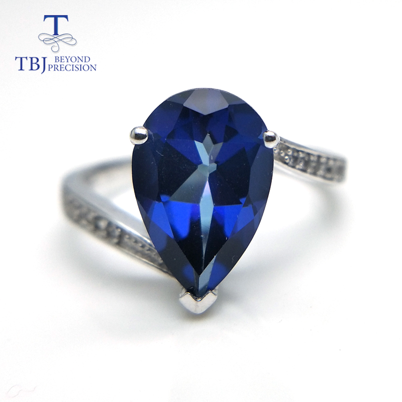 TBJ,Classic simple tanzanite blue topaz pear 8*12mm gemstone Ring 925 sterling silver fine jewelry for women daily wear gift tbj romantic small ring with natural good color blue tanzanite gemstone girl ring in 925 sterling silver fine jewelry for women