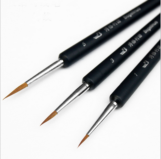 3pc/lot Watercolor Oil Art Drawing Lines Paint Brush Nail Art Painting Brush Calligraphy Pen Claborate-style Painting AHB019