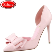 High Quality Women Pumps Sexy High Heels Wedding Shoes Pointed Toe Stiletto Bow Shoes Female 2019 Fashion Women Heel Shoes women pumps fashion bling crystal women heels thin high heels women shoes sexy stiletto pumps shoes female wedding shoes 516 5