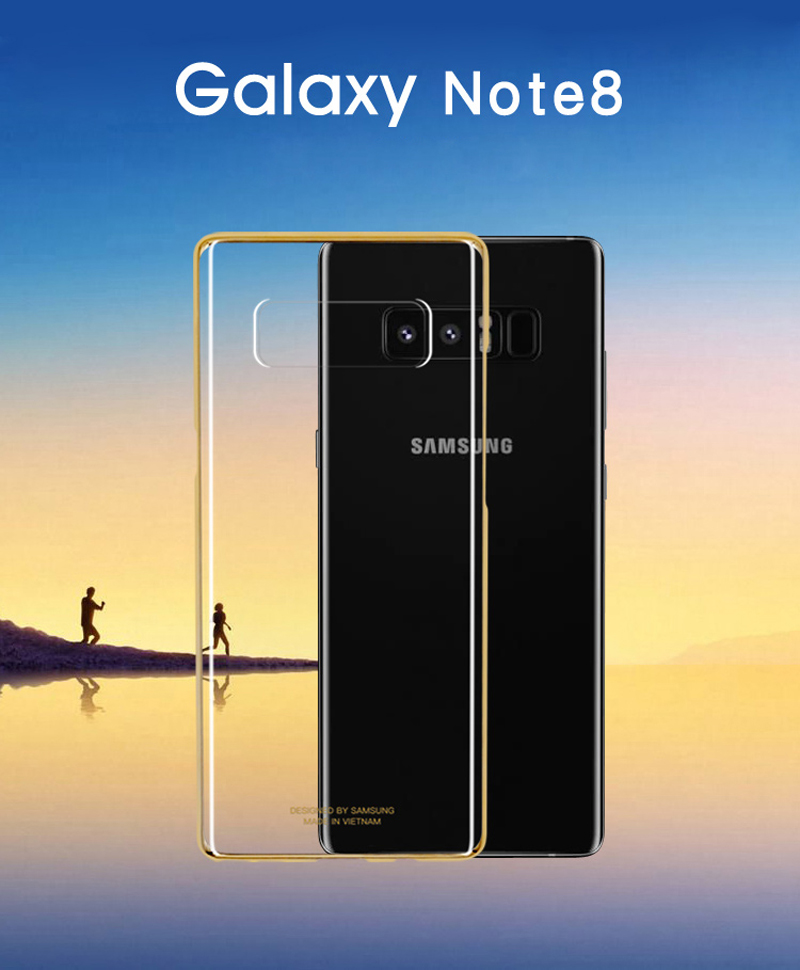 Original Samsung Shockproof Phone Cover Soft Shell for SAMSUNG Galaxy N9500 Note8 NOTE 8 Stealth TPU Mobile Phone Case in Half wrapped Cases from Cellphones Telecommunications