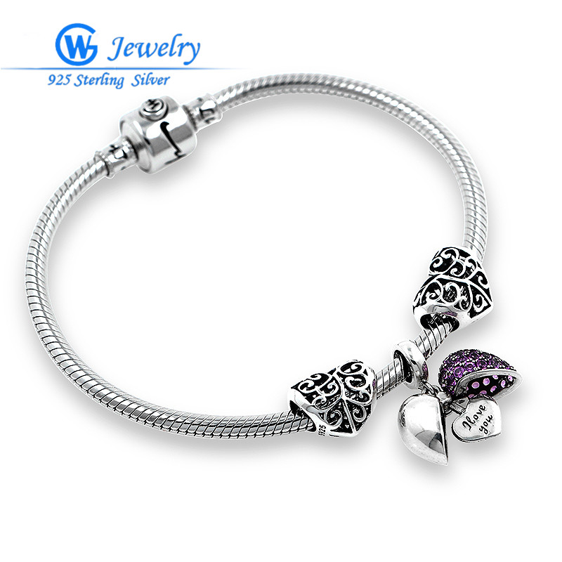 GW Brand I Love You Finished Bracelets Fit European Bracelet For Women Fashion Jewelry BRS050 брелок gw jewelry