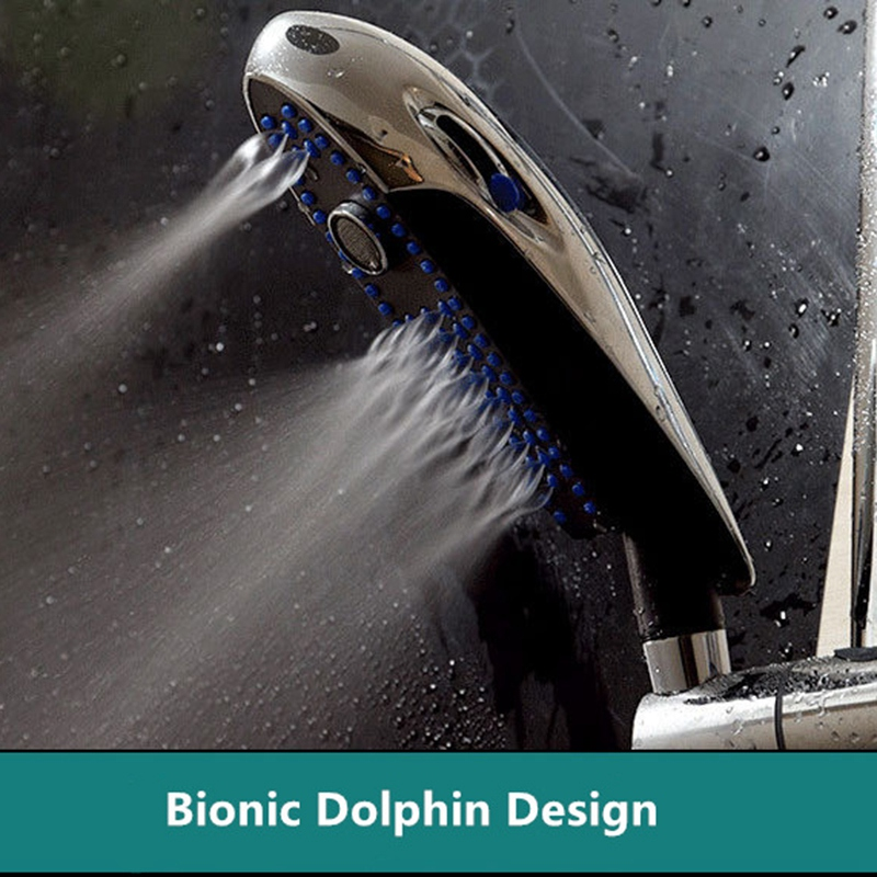 Image 5 - Modern Multifunction Bionic Dolphin Design Rain Shower Hand Hold Bathroom Shower Heads-in Water Cans from Home & Garden