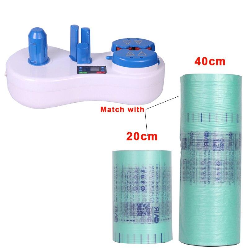 Maszyna do poduszek powietrznych nadmuchiwana maszyna buforowa do pompowania torebka poduszka bąbelkowa poduszka Wrap rolka i poduszka powietrzna + 1 rolka do testowania
