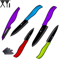 Best Selling Ceramic Knife Set XYJ Brand Colorful Handle Zirconium Oxide Blade Kitchen Knives 3 4