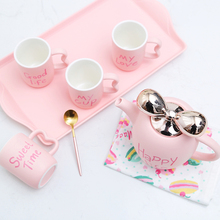 Europe Porcelain coffee cups Set Britain ceramic tea cup Afternoon tea party simple drinkware new cute home decor Wedding Gifts цены онлайн
