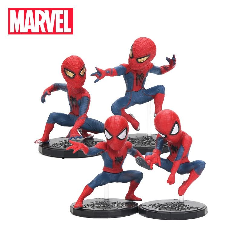 8cm Marvel Toys Avengers 3 Infinity War Spiderman Figure Set Superhero Spider-man Pvc Action Figure Collectible Model Dolls Toy