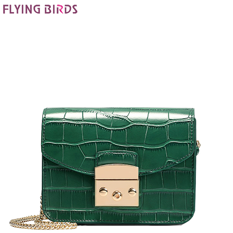 FLYING BIRDS Mini Bag Women's Cross Body Bags Famous Brand Crocodile Bags Women Handbags Bolsas Top Quality Female Designer Tote 2016 high quality alpha n 3b mens shark softshell jacket tad outdoor male warm waterproof man fleece jackets outerwear
