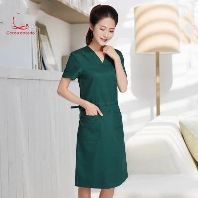 Hand-washing clothes hand-washing skirt pure cotton short-sleeved isolation clothing surgery brush hand women