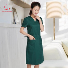 Hand-washing clothes hand-washing skirt pure cotton short-sleeved isolation clothing surgery brush hand women