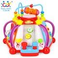 Huile Toys 806 Детские Игрушки Музыкальный Куб Деятельности Play Center с Огнями, 15 Функций и Навыки Обучения и Образовательные Toys For дети