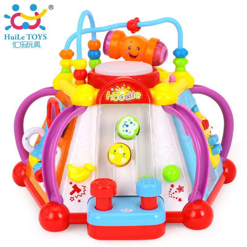 Huile Toys 806 Baby Toy Musical Activity Cube Play Center With Lights,15  Functions U0026 Skills Learning U0026 Educational Toys For Kids