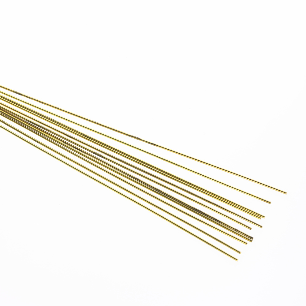 10pcs1.6x250mm Brass Rods Wires Sticks  Gold For Repair Welding Brazing Soldering