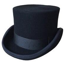 Halloween Cosplay Magier Magische Caps Steampunk Wolle Top Hüte Für Frauen Männer British Fedora Maskerade Verpackung Mit Box