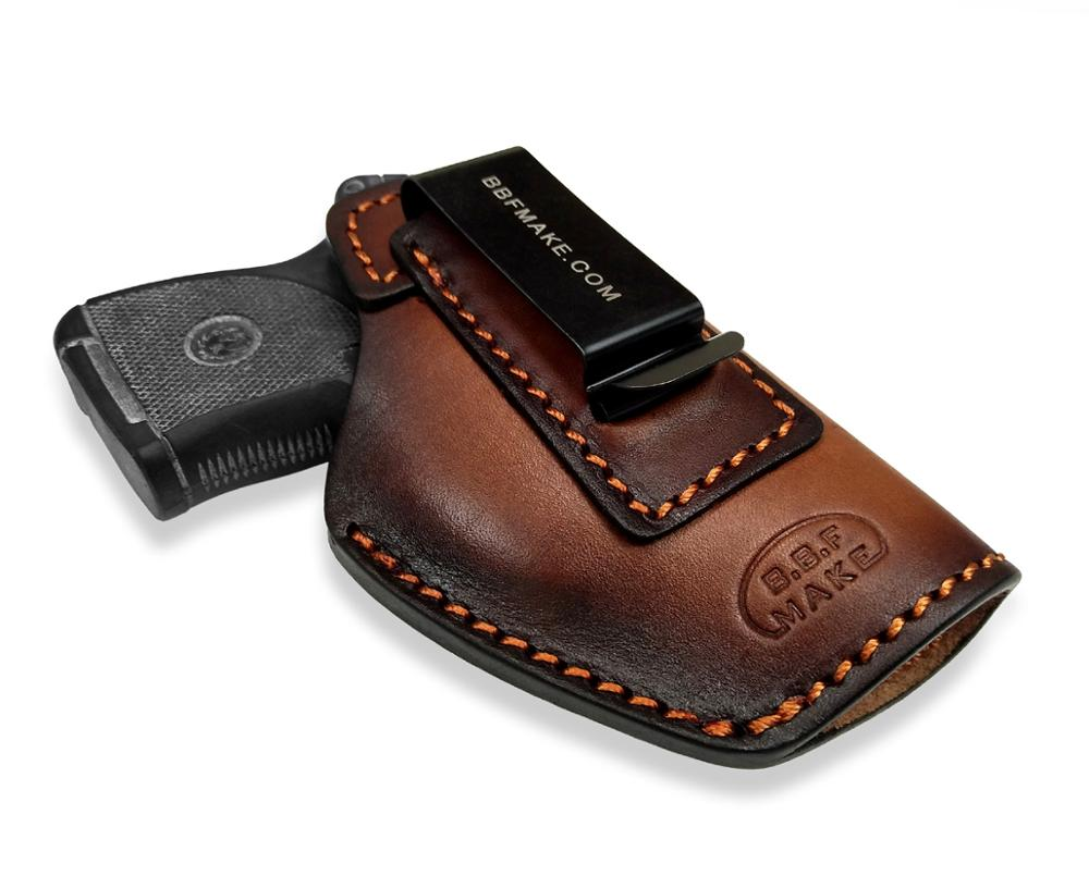 B.B.F MAKE Handmade IWB Gun Holster Leather Case For Ruger LCP380 BG380 P938 Small Pistol Pouch belt Clip
