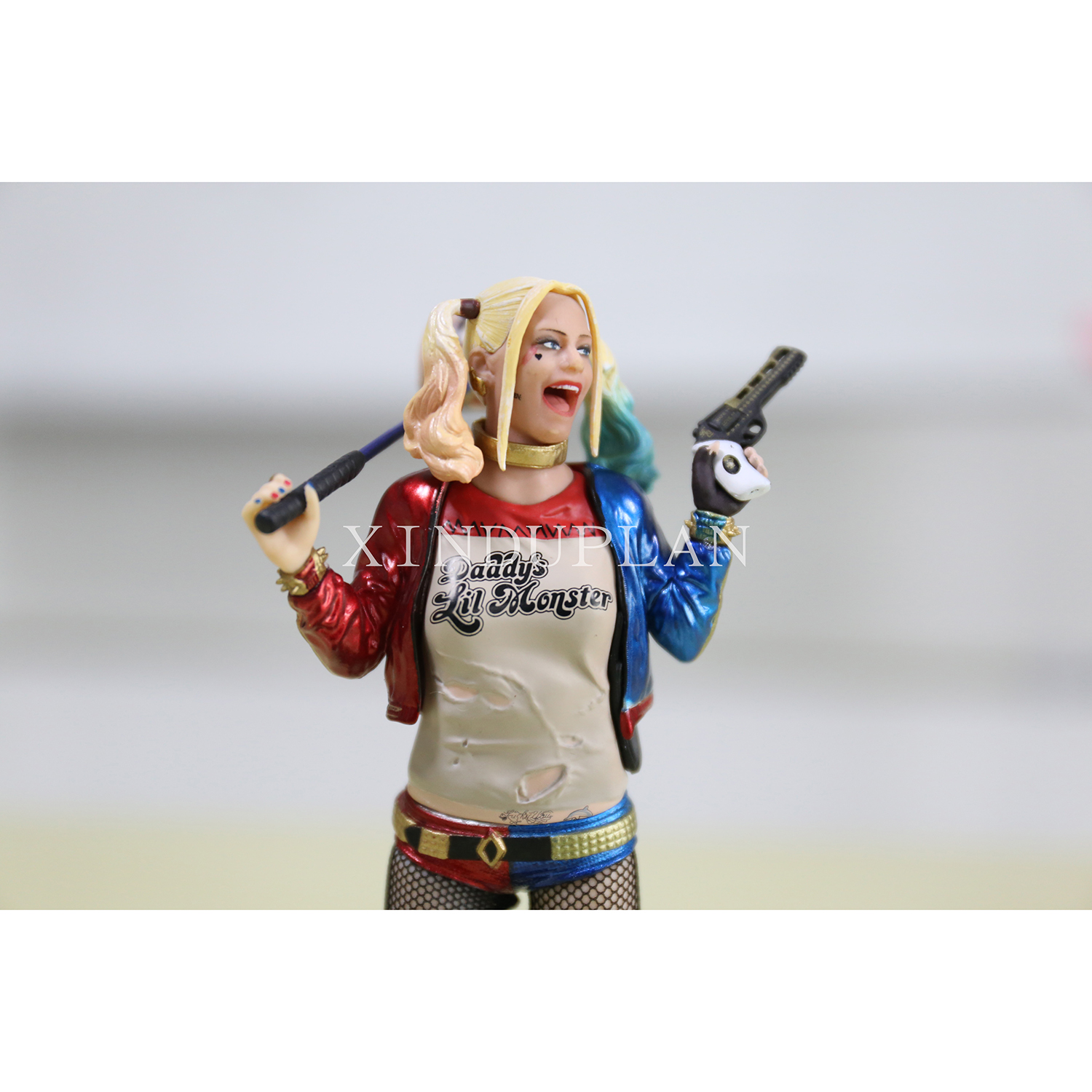 XINDUPLAN DC Comics Justice League Harley Quinn Suicide Squad Joker Action Figure Toys 19cm Kids Collection Model 1076 dc comics designer series darwyn cooke batman supergirl harley quinn pvc action figure collection model toys 7 18cm