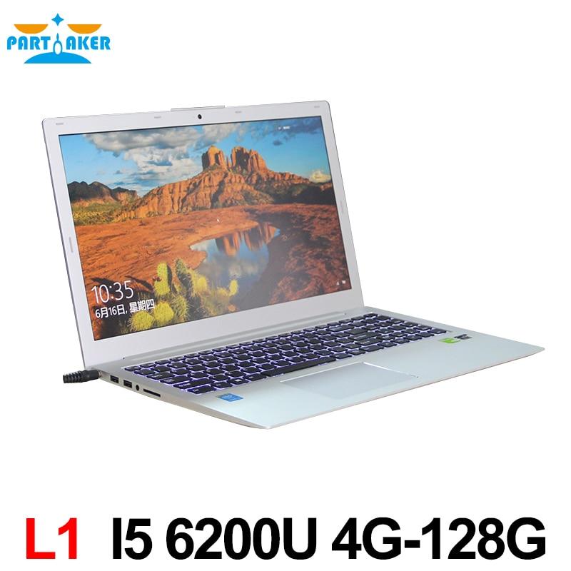 Newest Core i5 6200U CPU Ultrabook with backlit DDR3 RAM MSATA SSD Webcam Wifi Bluetooth HDMI Windows 10 laptop with GT940M 2G