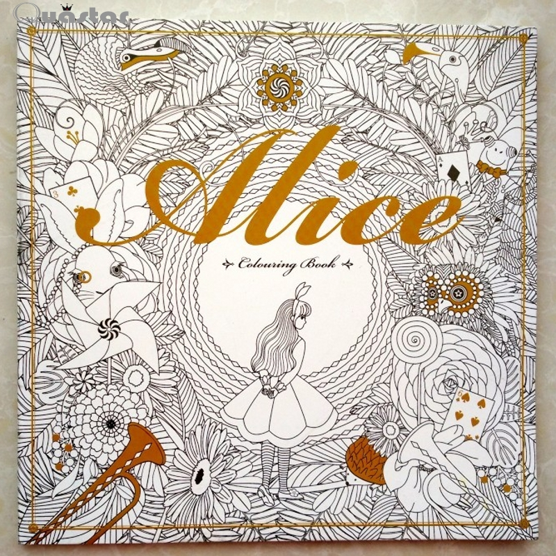 Alice In Wonderland Coloring Book For Adults To Relieve Stress