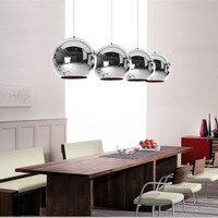 Copper Ball Shade Pendant Lighting Modern Glass Globe Pendant Lights Round Ceiling Hanging Lamp luminaire Kitchen Light Fixture