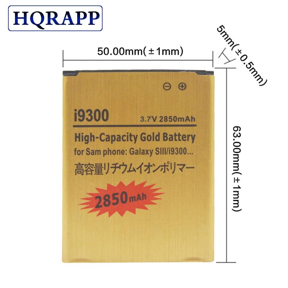 Аккумулятор большой емкости для Samsung Galaxy S3 SIII S 3 III I9300 i535 i747 T999 L710 I9308, EB L1G6LLU, 2850 мАч