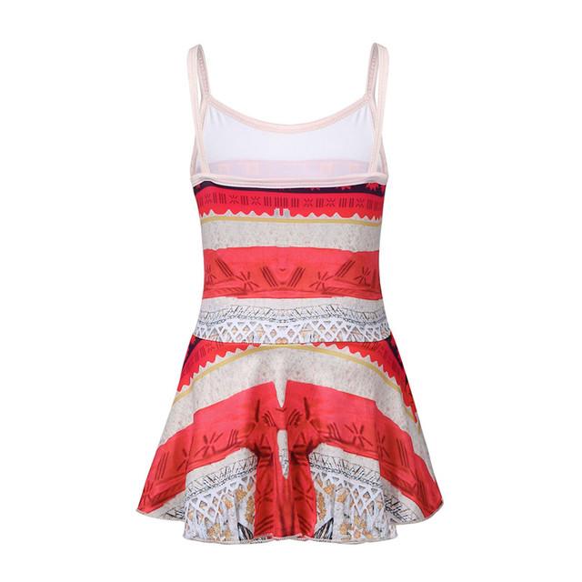 Spaghetti Shoulder Straps Printed Girls Swimsuit