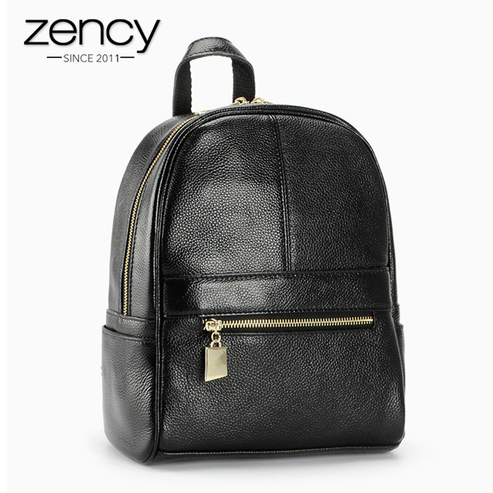 4Cls Classic Fashion Genuine Leather Backpack Women Bags Preppy Style Knapsack Girls School Book Zipper Shoulder Women Back Pack women s classic backpack