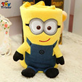 Triver Toy Minions sherpa blanket coral fleece carpet portable reelable baby shower car Air condition travel rug doll toy