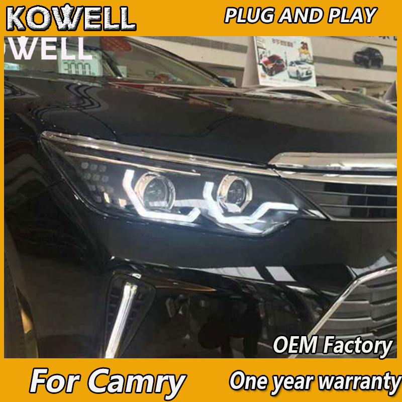Kowell Car Styling For Toyota Camry Led Headlights 2017 2016 V55 Drl H7 Hid Bi Xenon Lens Angel Eye Low Beam In Light Embly From