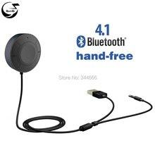 Mini kits de coche bluetooth v4.1 audio música receptor de micrófono de 3.5mm jack de entrada aux para iphone, ipad android otros smartphones