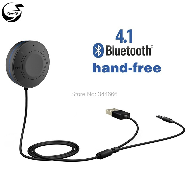 Mini Bluetooth Car Kits V4 1 Audio Music Receiver 3 5mm font b Aux b font