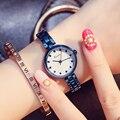 Kimio novo mulheres relógios de luxo de moda de aço inoxidável relógios de pulso para mulheres hora de relógio relogio feminino mulheres à prova d' água