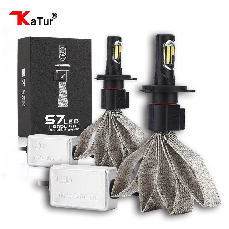 Katur 1 Pair H27W2 881 Led Car Headlight Kit 880 9004 9005/HB3 9006/HB4 9007 H1 H3 H4/9003 H7 H8/H9/H11 H13 COB Led Bulbs Hi/Lo 2x car led headlight 12v 24v 60w 7200lm 6000k light auto headlamp bulb kit h1 h3 h4 h7 8 9 h11 h13 9004 9005 9006 9007 880 881