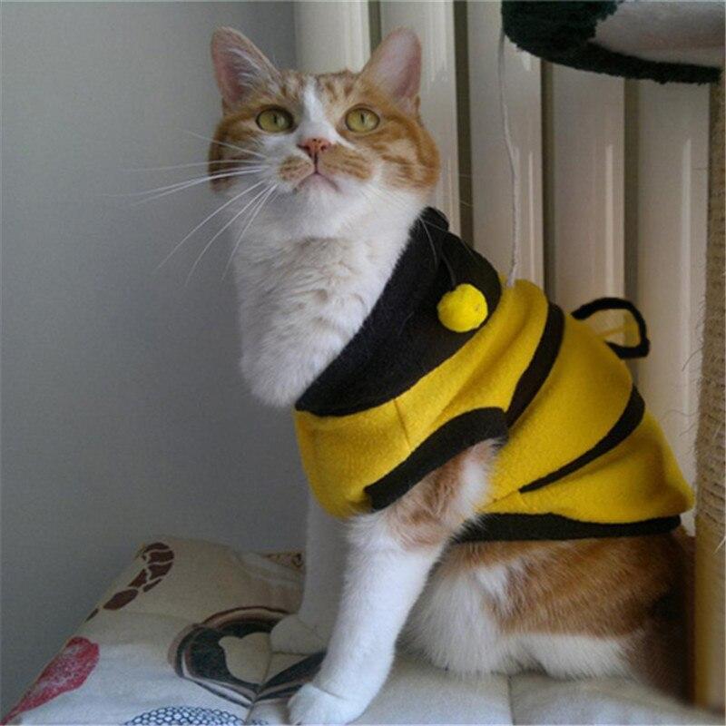 Pet Dog Cat Supplies Cute Bumble Bee Dress Up Costume Apparel Coat Clothes Dropshipping roupas pet Hot Sale