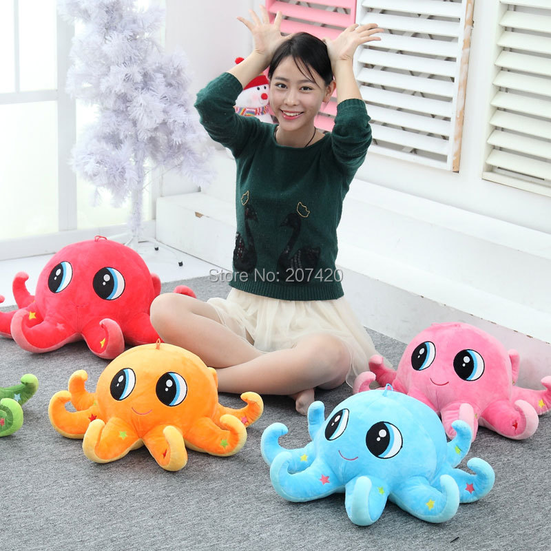 Hot Selling 20inch Down Periscope 5 Colors Starfish Octopus Plush Toys Dolls For Girls Birthday Gift hot sale 12cm foreign chavo genuine peluche plush toys character mini humanoid dolls