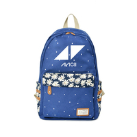 2018 AVICII Backpack Flower wave point Rucksacks For Teenagers DJ Music Children Idol Backpacks Kids Boys&Girls Fashion Bags