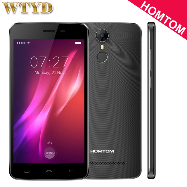 3G HOMTOM HT27 8GB/1GB Fingerprint Identification 5.5'' Android 6.0 MTK6580 Quad Core up to 1.3GHz Dual SIM OTA WiFi Bluetooth
