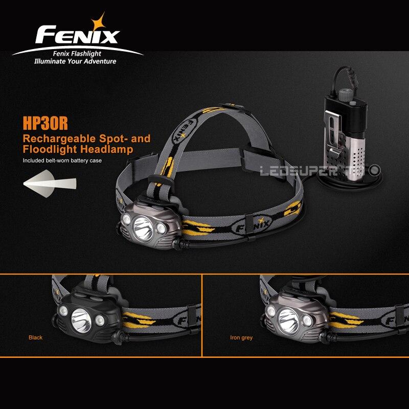 D'origine Fenix HP30R Cree Led Max 1750 Lumens Rechargeable Spotlight et Projecteur Projecteur avec 2600 mAh Batteries