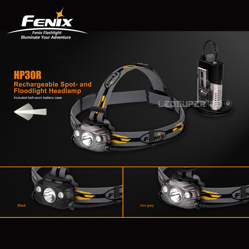 Original Fenix HP30R Cree LEDs Max 1750 Lumens Rechargeable Spotlight and Floodlight Headlamp with 2600mAh Batteries