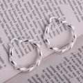 925 sterling silver earrings , 925 silver fashion jewelry , rope shiny /ikbarbia hxoaqova LQ-E156
