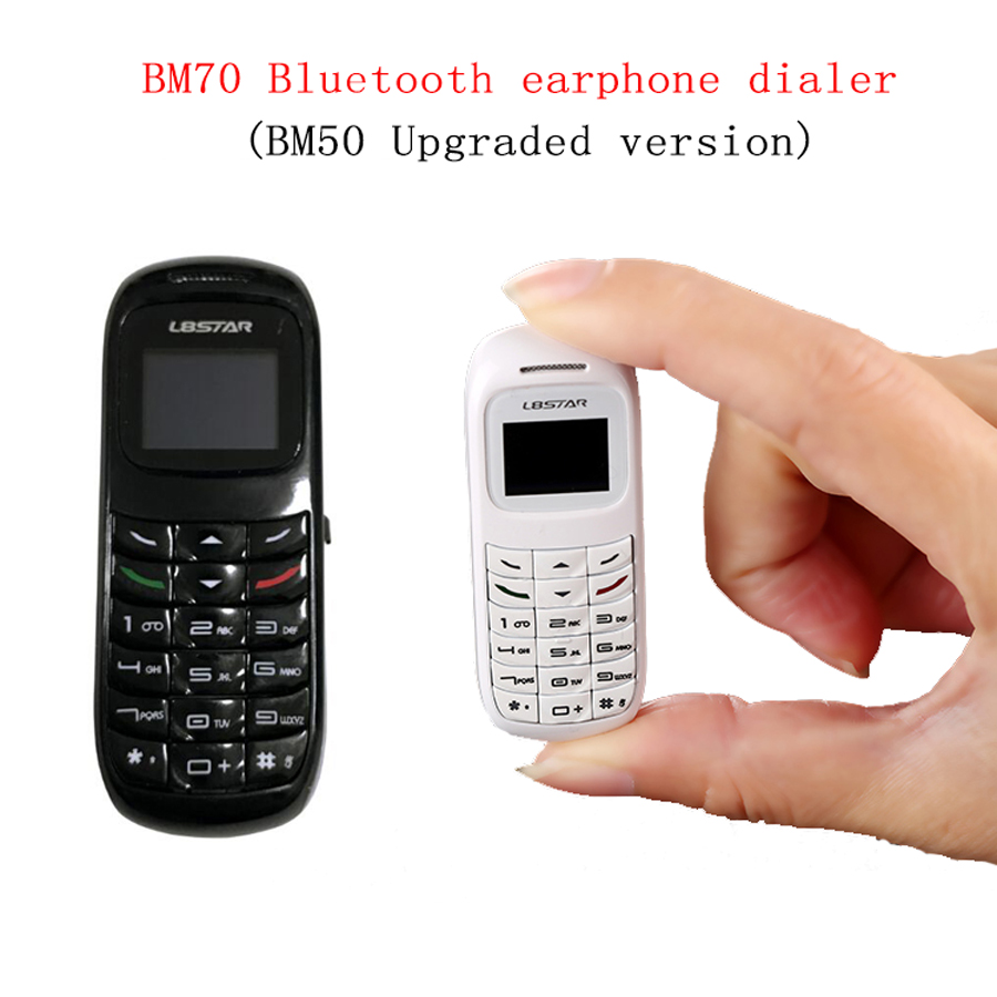 BM70 Dialer Bluetooth Earphone BM50 Mini Mobile Phone Headset Stereo Bass Magic Voice SIM Card Headphone for iPhone xiaomi